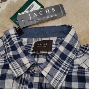 Jachs Shirts - Jachs New York Plaid Work Shirt
